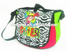 Zebra Monogrammed Message Bag bookbag personalized teenager tween womens girls diaper bag backpack black hot pink #Bookbags, #Monogrammed