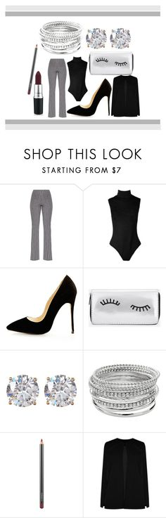 """""""How To Style: Striped Flare Pants"""" by kabriadarshay on Polyvore featuring Boohoo, Nordstrom Rack, Apt. 9 and MAC Cosmetics"""