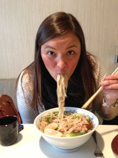 Unlike in most cultures where slurping or making sounds while you eat is considered very rude. It is perfectly normal and acceptable that you slurp while eating in Japan. Some even say when you slurp, the noodles taste better!