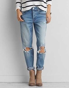 Tomgirl Jean, Blown Out Blue | American Eagle Outfitters