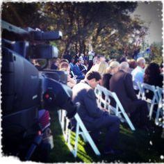 Filming a wedding, but mostly creeping on Jonathan Bowerbank...