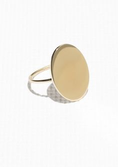 & Other Stories Oval Ring in Gold
