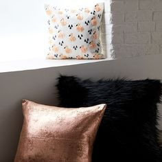 St. Jude Metallic Foil Pillow Cover - Rose Gold #westelm