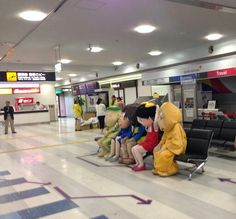 空港で待つ妖怪たち