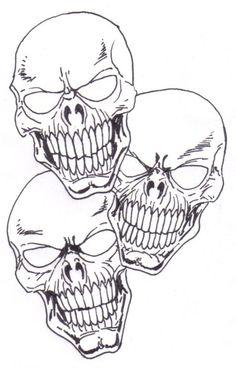 Learn To Draw A Skull Tattoo Concept Idea. Skull Drawing Copyright Wayne Tully 2010.