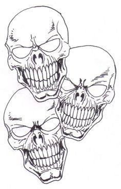 Learn To Draw A Skull Tattoo Concept Idea. Skull Drawing Copyright Wayne Tully 2010.