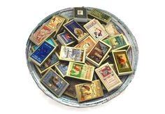 One Hundred (100) Golden Book Covered Matchboxes - Set the Perfect Scene - Unique Wedding / Party Favors - Light an Imaginative Spark