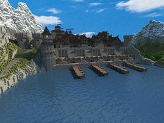 Tarbudur [World of Elandor] Minecraft Map Minecraft Medieval Castle, Minecraft Castle Blueprints, Minecraft House Plans, Minecraft Building Guide, Minecraft Tips, Minecraft House Designs, Minecraft Creations, Cool Minecraft, Minecraft Crafts