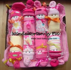 diaper babies in a big gift basket