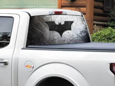 Product: Batman logo on metal plate DC comics Rear Window Decal Sticker Pick-up Truck SUV Car any size