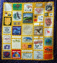 T-shirt quilt made for an Eagle Scout