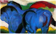 Die kleinen blauen Pferde (1911) Les petits chevaux bleus. Franz Marc.