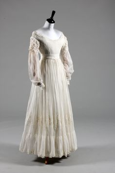 Beautiful 1830 wedding dress donated to #VintageVision and sold at auction in summer 2012. Absolutely perfect condition. Amazing!