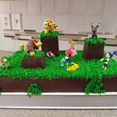 Super Smash Bros Battle Cake Party Things Boy Birthday Cakes Ideas