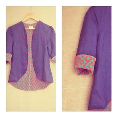by Itr -- Indigo linen jacket Kurta Designs, Blouse Designs, Diva Fashion, Fashion Outfits, Eastern Dresses, Coats For Women, Clothes For Women, Crochet Coat, Pakistan Fashion