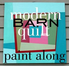 Modern Quilt Designs Paint Tutorial...Excellent instructions