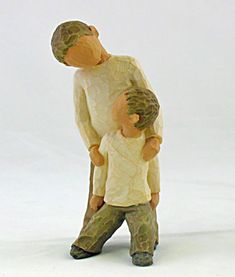 Brothers Willow Tree Figurine for the boys floating shelf. I love my Willow Trees!