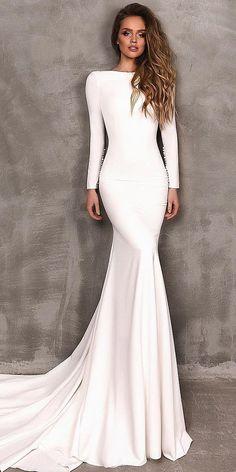 18 Modest Wedding Dresses With Sleeves ❤️ ❤️ Full gallery: https://weddingdressesguide.com/modest-wedding-dresses-with-sleeves/