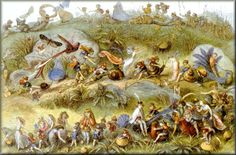 The Triumphal March of the Elf King (c1870)  by  Richard Doyle