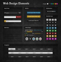 Dark And Mysterious Web Design Elements