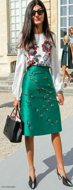 Amazing blouse must have. Giovanna Battaglia - style icon