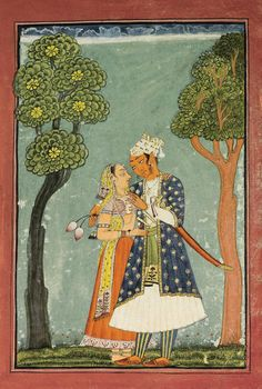An Illustration from a Ragamala Series: Bairadi Ragini, India, Bilaspur, circa 1700 - 1720