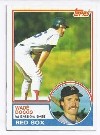 BOSTON RED SOX WADE BOGGS 1983 TOPPS ROOKIE CARD ~STOCKING STUFFER~FREE SHIPPING