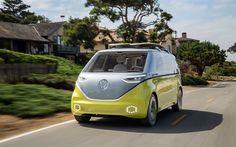 Indir duvar kağıdı Geleceğin Volkswagen KİMLİĞİ Buzz, kavram, 2017, Elektrikli Araba, Otomobil, VW