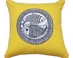 6 Vigorous Hacks: Decorative Pillows With Words Shops decorative pillows kids playrooms.Decorative Pillows For Teens Polka Dots decorative pillows on bed dorm room.Decorative Pillows On Bed Dorm Room. Couch Cushion Covers, Couch Pillows, Pillow Covers, Diy Pillows, Madhubani Art, Madhubani Painting, Pottery Barn, Fish Pillow, Red Decorative Pillows