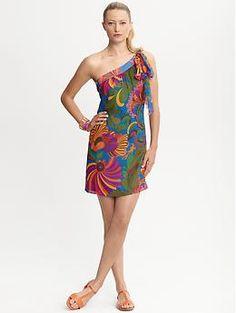 Trina Turk Coachella one-shoulder dress - Love this!