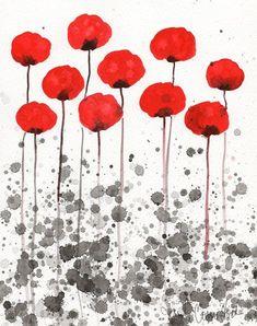 Watercolor Painting Watercolor Flowers   Happy by printmakerjenn, $20.00