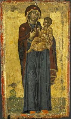 Odigitria Bisanzio Vatopedi. Un raro esempio di Odigitria a figura intera del XIV sec.