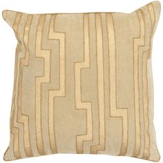 20 Charming Key Print Pillow in Olive & Gold