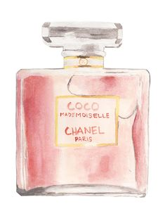 Illustrated Chanel Perfume Bottle