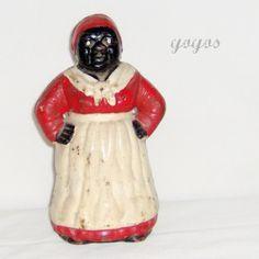 Antique Aunt Jemima Collectibles | Vintage AUNT JEMIMA BANK Cast Iron Collectible Black History Gift ...