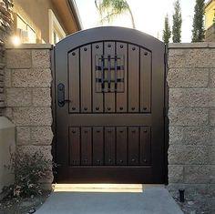 Old World & Tuscan Wood Gate – Door Ideas Fence Gate Design, Iron Gate Design, House Gate Design, Door Design, Metal Gate Designs, Wooden Garden Gate, Metal Garden Gates, Wooden Gates, Backyard Gates