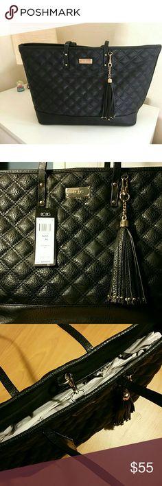 Spotted while shopping on Poshmark: BCBG Paris Quilted Faux Leather Tote Handbag! #poshmark #fashion #shopping #style #BCBG #Handbags