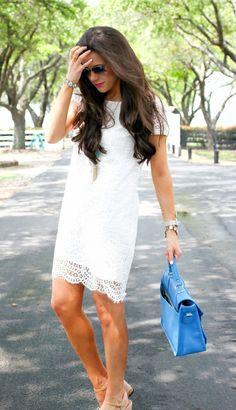 The Sweetest Thing: White Lace Shift Dress..