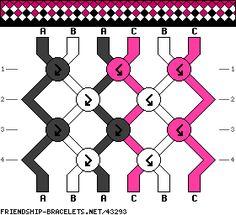 #43293 6 Strands, 3 Colors, 2ea - friendship-bracelets.net - Made 9/15 w/ A= brown, B= white, C= lemon; Blues;