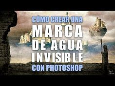 Cómo crear una marca de agua invisible con Photoshop - YouTube