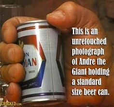 22 Incredible Stories That Prove Andre The Giant Was Larger Than Life Andre The Giant Hand, André The Giant, Pale Ale Beers, Are You Serious, Smosh, Professional Wrestling, Wwe Superstars, My Sunshine, Manicures