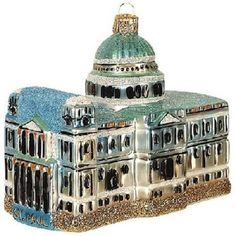 St Paul Cathedral London England Polish Glass Christmas Ornament Made in Poland