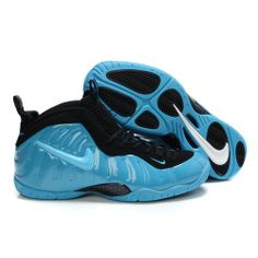 online store 0183f 86055 Buy Nike Air Penny,Nike Air Foamposite Pro Retro Black Eletronic Blue  Basketball Shoes 314996 001 For Sale