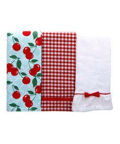 Look what I found on #zulily! Kitchen Cherry Kitchen Towel Set by C.R. Gibson #zulilyfinds