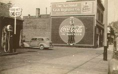 Coca cola sign-look at the ancient car!!