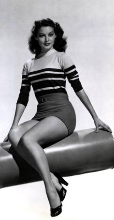 Ava Gardner - love her vintage style.