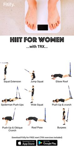 Fat with TRX Exercises TRX - Burn fat for Women Routine High-intensity cardio exercises to boost your metabolism as quickly as possible.TRX - Burn fat for Women Routine High-intensity cardio exercises to boost your metabolism as quickly as possible. Fitness Workouts, Trx Workouts For Women, At Home Workouts, Workout Exercises, Dumbbell Workout, Workout Videos For Women, Fat Workout, Fitness Tips, Training Apps