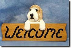 Petite Basset Griffon Vendeen - Dog Breed Welcome Sign - Our unique selection of hand painted natural oak Dog Breed Welcome Signs are sure to please the most discriminating Dog Lover! Be the envy of e...