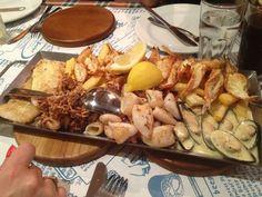 platter at Ocean Basket Paphos, Cyprus