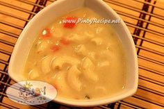 Creamy Macaroni Chicken Soup